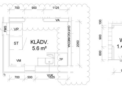 Detaljer – Klädv. + WC