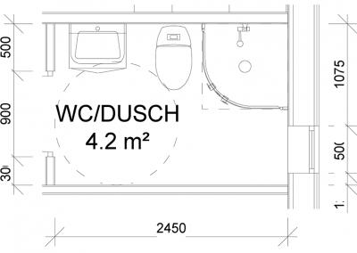 Detaljer - Wc  + Dusch