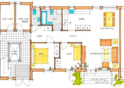 3-rumslägenhet, 82,5 m²