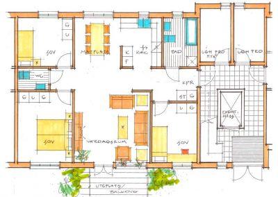 4-rumslägenhet, 89,2 m²